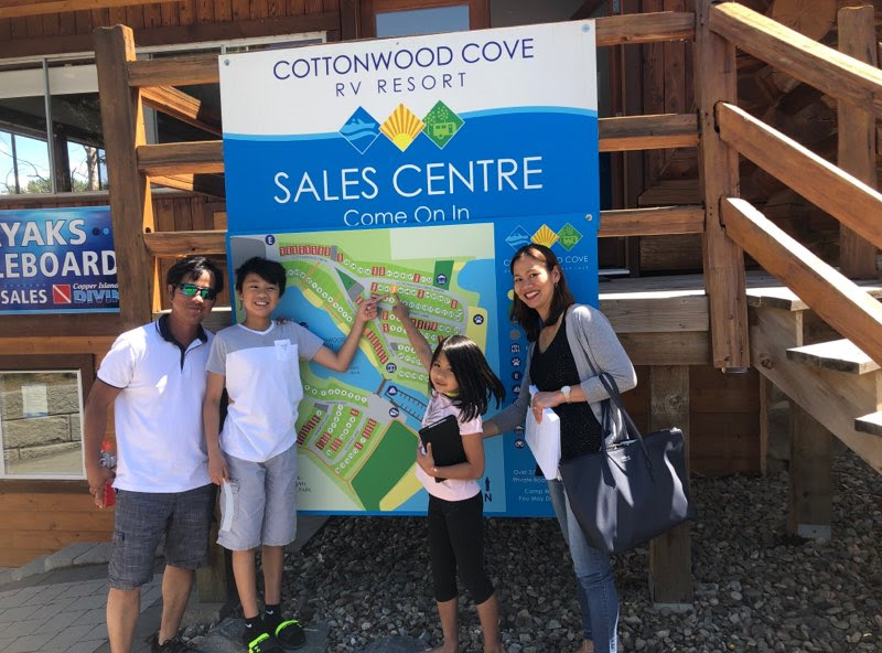 New RV Lot Owners at Cottonwood Cove.