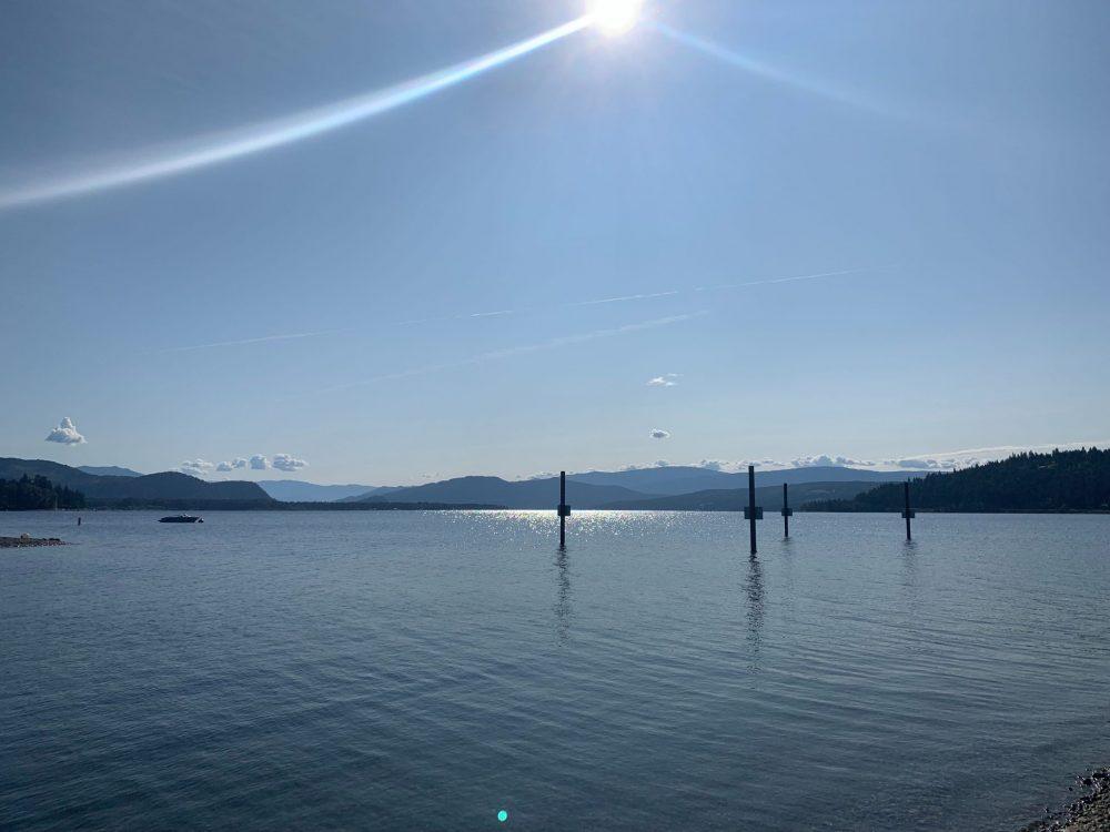 Calm waters of Shuswap Lake