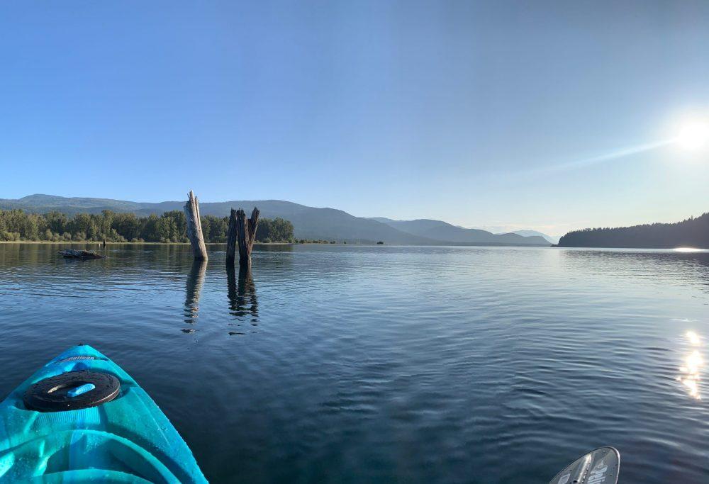 Kayaking on Shuswap Lake